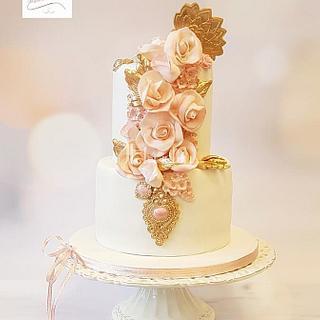 winter wedding cake pretty in pink ...