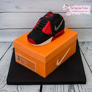 Trainer and Shoe Box - Cake by The Fairy Cake Mother