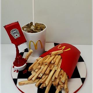 Mc-Donalds  cake - Cake by Ivciny dortiky