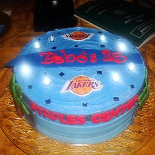 Staples Center/ Lakers cake - Cake by Monsi Torres