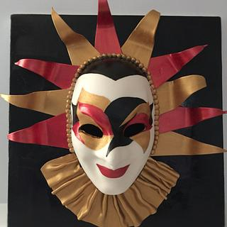 Venetian clown mask