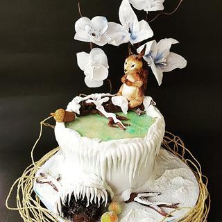 Winter story - Cake by Marija