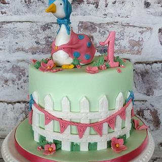 Jemima Puddle Duck 1st Birthday Cake