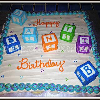1st birthday pull apart cupcake cake