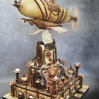 Steampunk Airship Cake