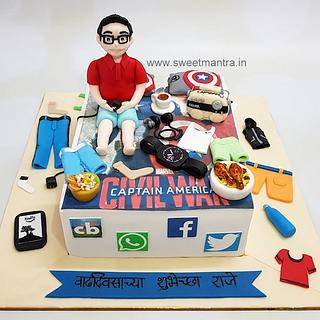 Tremendous Guy Birthday Cake 6 Cakes Cakesdecor Personalised Birthday Cards Paralily Jamesorg