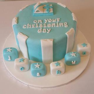 Joshua's christening cake - Cake by Bert's Bakes