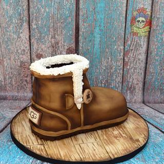 Ugg boot cake!