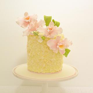Coconut Cake & Sugar Orchids