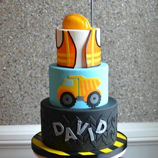 Construction themed 1st birthday cake - Cake by Elisabeth Palatiello