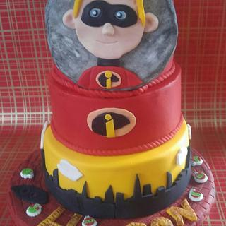 """HUDSON'S INCREDIBLES BIRTHDAY CAKE - Cake by June (""""Clarky's Cakes"""")"""