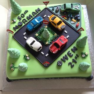 Sports cars/Road/Mechanic cake?