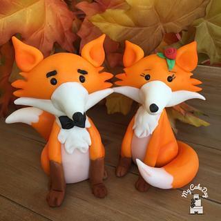 Mr & Mrs Fox - Cake by My Cake Day