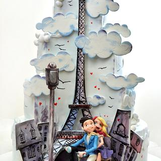 Paris Wedding Cake
