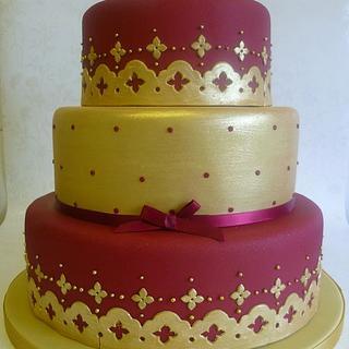 Asian inspired Baroque Wedding cake