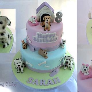 Sarah's 8th Birthday puppy cake - Cake by Ruth Byrnes