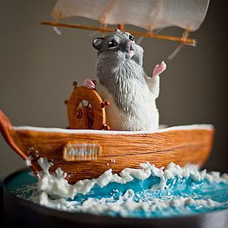 Hamster on a boat - Cake by LidiaNadolska