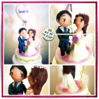 """""""Love is"""" by Kim Casali - wedding cake topper by Barbara Buceti BB Mode To Play"""