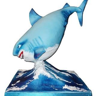 3D Shark cake - Cake by Eliska