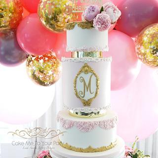 Elegant Christening Cake for Milla