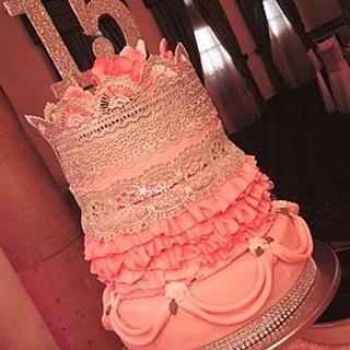 Quinceanera cake  - Cake by Carola Gutierrez