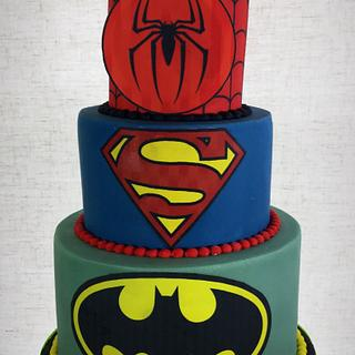 Superheroes cake  - Cake by Dawn Wells