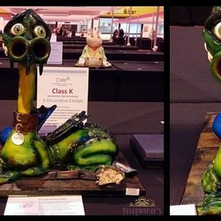 Errol the Swamp Dragon, My Silver award winning Cake International entry