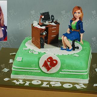 cake with a desk - Cake by Anna Krawczyk-Mechocka