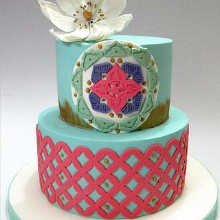 Boho Style birthday cake