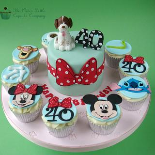 Dogs and Disney Themed Cake