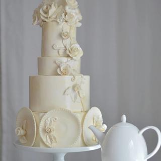 Rambling Rose- A sugar artists tea party - Cake by Rebekah Naomi Cake Design