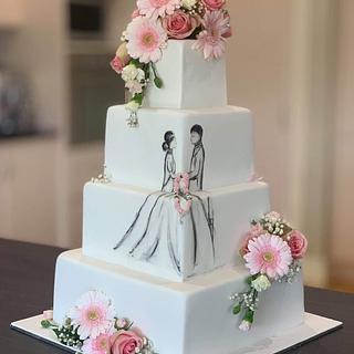 Elegant Wedding Cake - Cake by  Sue Deeble