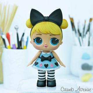 Alice in Wonderland LOL Doll Cake topper