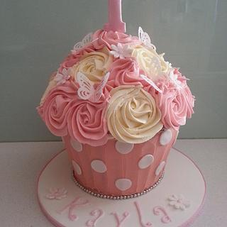 Giant Cupcake - Cake by BlissfulCakeCreations