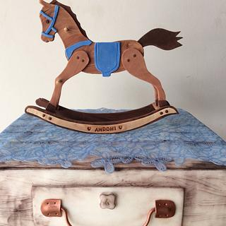Baby Rocking Horse Cake - Cake by Postres Don Fede