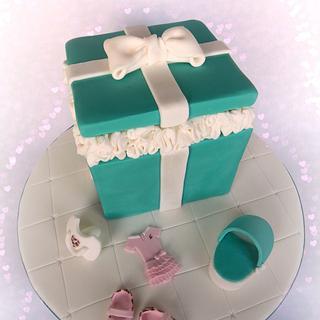 Tiffany Box Baby Shower Cake & Cupcakes