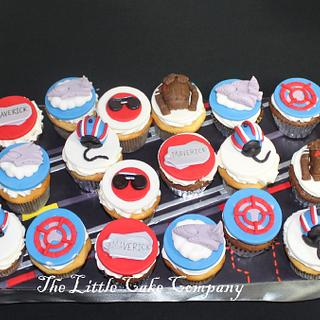 Top Gun themed cupcakes - Cake by The Little Cake Company