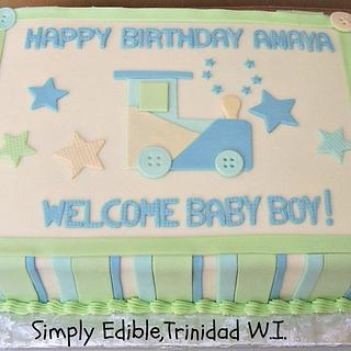 Baby Shower Cake - Cake by Shelly-Anne