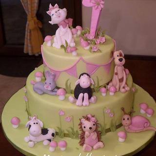 Little girl - Cake by MariaDelleTorte