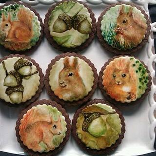 Squirrel and Acorn cookies.