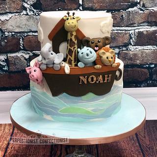 Noah - Noah's Ark Christening Cake