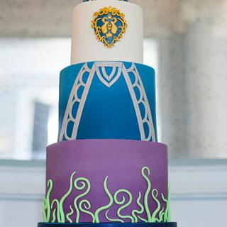 World of Warcraft wedding cake