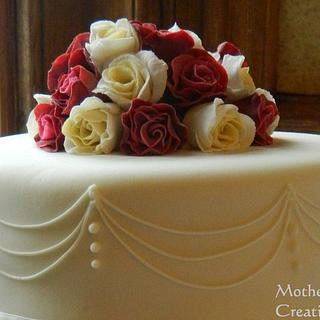 Red and Ivory Wedding