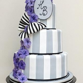 Striped violet cake  - Cake by Hannah Wiltshire