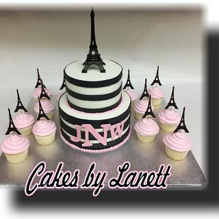 Paris Theme Baby Shower Cake/Cupcakes