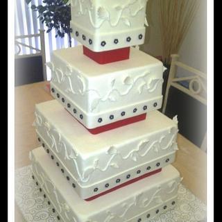 Rose tower cake.