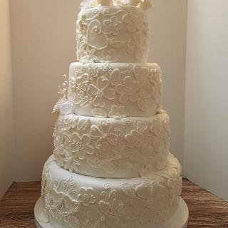 Lace Love Wedding Cake