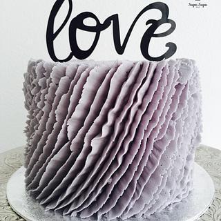 Lavender love cake