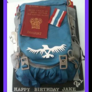 Travellers Backpacker Cake