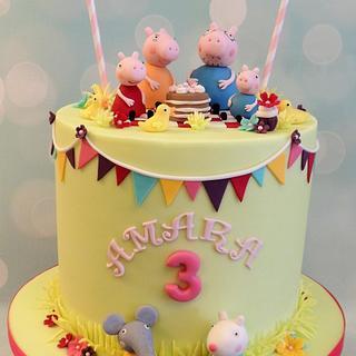 Peppa Pig Picnic - Cake by Shereen